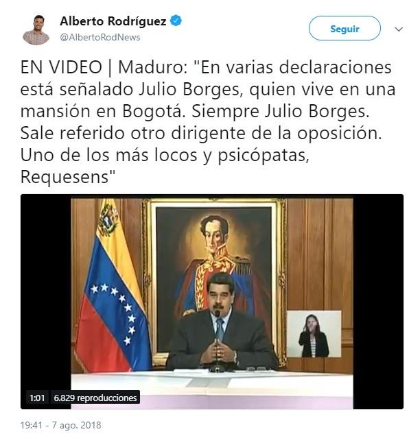Gobierno de Venezuela da detalles de atentado contra Maduro