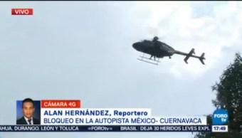 Manifestantes Cierran Autopista México-Cuernavaca Reportero Alan Hernández