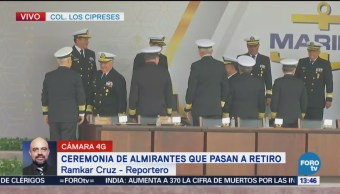 Marina Realiza Ceremonia Almirantes Pasan A Retiro Secretaría De Marina
