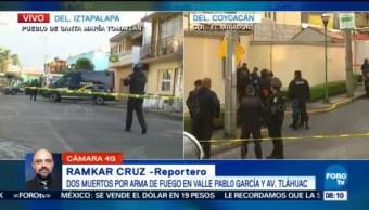 Matan a dos personas en Iztapalapa