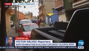 Matan a un hombre en Barrio Norte, delegación Álvaro Obregón
