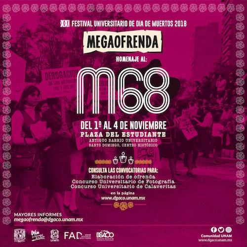 Día Muertos UNAM Movimiento Estudiantil 68