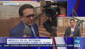 México y EU retoman conversaciones sobre TLCAN