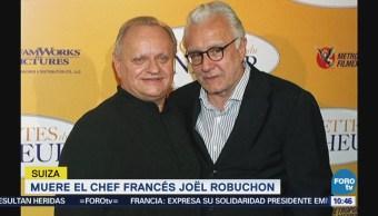 Muere el chef francés Joël Robuchon