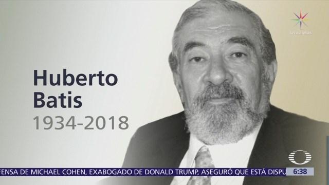 Muere el escritor Huberto Batis en la CDMX