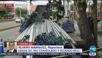 Muere Hombre Aplastado Circuito Interior Avenida Río Consulado Ricardo Bell Aplastado Por Tubos Metálicos Equipos De Emergencia Trabajan En La Zona