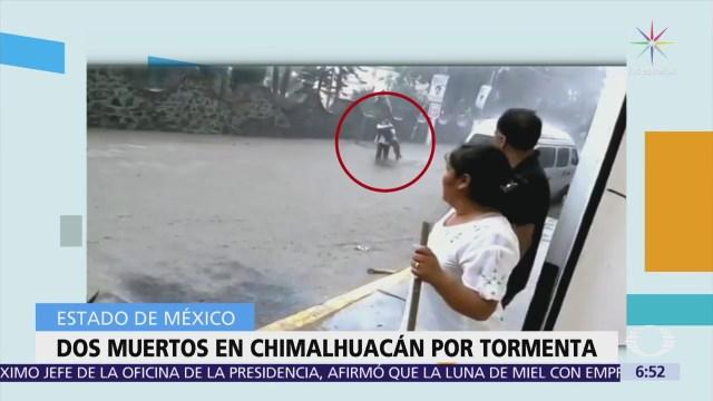 Mueren dos personas en Chimalhuacán por tormenta en Edomex