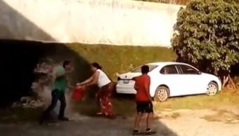 mujer enfurecida prende fuego esposo san luis potosi