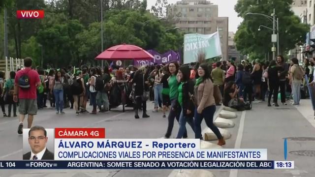 Mujeres Apoyan Legalización Aborto Avenida Juárez