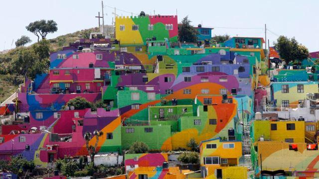Mural de Palmitas, en Pachuca, el más grande de América Latina