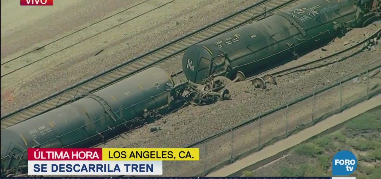 Descarrila Tren Los Ángeles Tanques Cisterna California