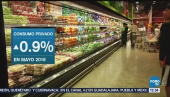 Crece Consumo Privado Interno 0.9% Inegi