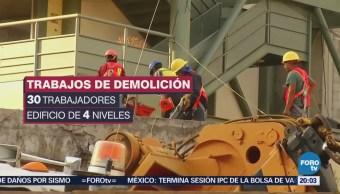 Obras de demolición del Colegio Rébsamen afectan a vecinos