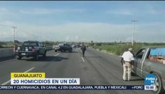 Ocurren 20 Homicidios Día Guanajuato Últimas 24 Horas Asesinatos