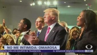 Omarosa dice que Trump no la intimida