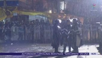 Operativo contra puestos ambulantes en la colonia Portales, CDMX