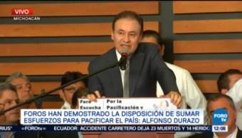 Alfonso Durazo Participa Foro Pacificación Morelia