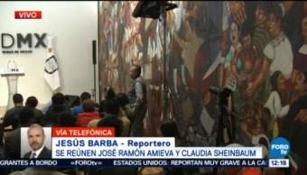 Amieva Claudia Sheinbaum Sostienen Reunión Analizar Proceso Reconstrucción