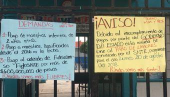 Paro de maestros afecta a 200 mil alumnos en Sinaloa