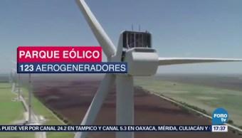Parque eólico está en operación en Tamaulipas