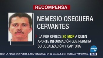 PGR aumenta a 30 millones de pesos recompensa por El Mencho
