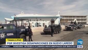 PGR continúa investigación de desaparecidos en Nuevo Laredo