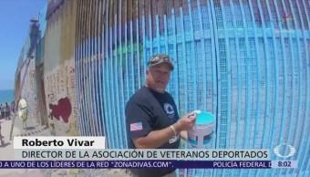 Pintan el 'Mural de la Hermandad' en Tijuana