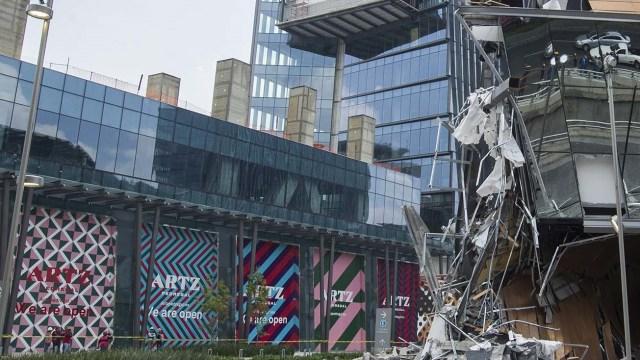 Derrumbe de Plaza Artz, por mal diseño estructural: PGJ-CDMX