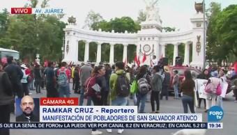 Pobladores San Salvador Atenco Manifestaciones CDMX