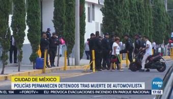 Policías capitalinos, investigados por muerte de automovilista
