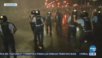 Protestas Contra El Gobierno De Rumania, Rumania, Manifestaciones Policías Dispersan Protestas