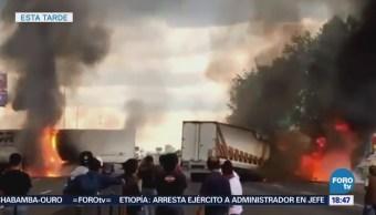 Policías Huachicoleros Enfrentan Puebla Autopista México-Puebla