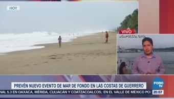 Prevén mar de fondo en las costas de Guerrero