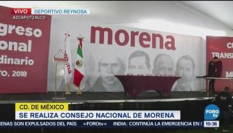 Realizan V Consejo Nacional Morena Ciudad de México Andrés Manuel López Obrador, AMLO