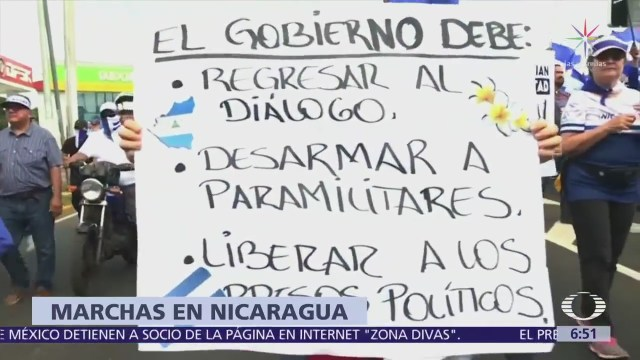 Protestas en Nicaragua exigen liberación de presos políticos