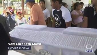 Sepultan Víctimas Linchamiento Acatlán de Osorio Puebla