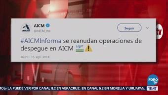 Reanuda operaciones el Aeropuerto de la CDMX