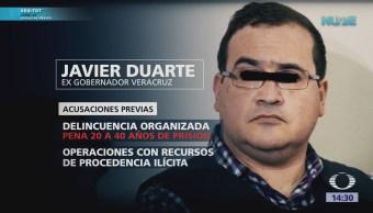 Reclasifican delitos de Javier Duarte