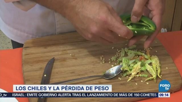 Relación de los chiles con la pérdida de peso