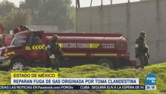 Reparan Fuga Gas Originada Toma Clandestina Edomex
