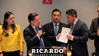 Ricardo Gallardo, nuevo coordinador parlamentario del PRD