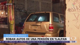 Roban autos de una pensión en calzada de Tlalpan