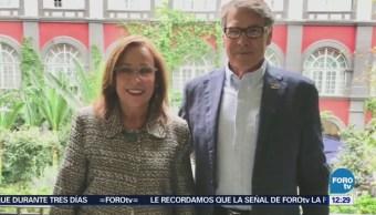 Rocío Nahle se reúne con secretario de Energía de EU en CDMX