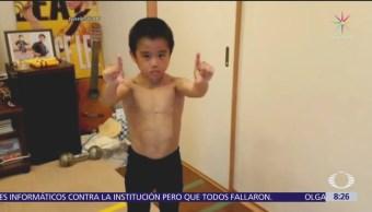 Ryusei Imai es llamado el pequeño Bruce Lee