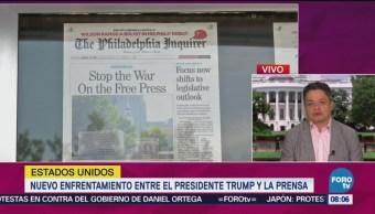 Nuevo Enfrentamiento Entre Trump Y La Prensa Corresponsal Ariel Moutsatsos Presidente Donald Trump Prensa Estadounidense