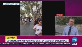 Conmemoran Aniversario Atentados En Barcelona Barcelona España Homenajes Cambrils