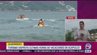 Turistas Últimas Horas Vacaciones Acapulco Deportes Náuticos