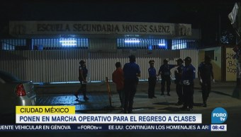 Ponen En Marcha Operativo Regreso A Clases Clases De Nivel Básico Ciudad De México