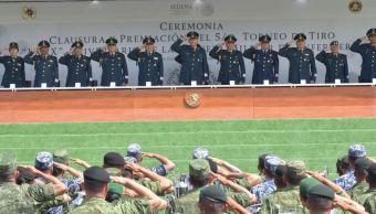 Salvador Cienfuegos clausura el Quinto Torneo de Tiro 2018