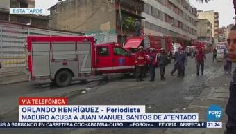 Santos No Se Pronuncia Señalamientos Maduro Atentado